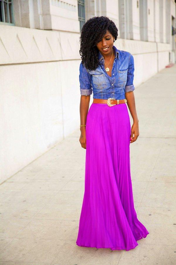 maxi skirt with belt