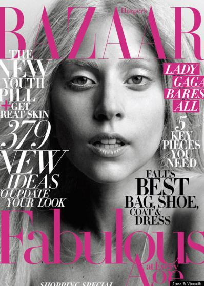spring 2012 makeup beauty trends lady gaga hapers bazaar no mascara