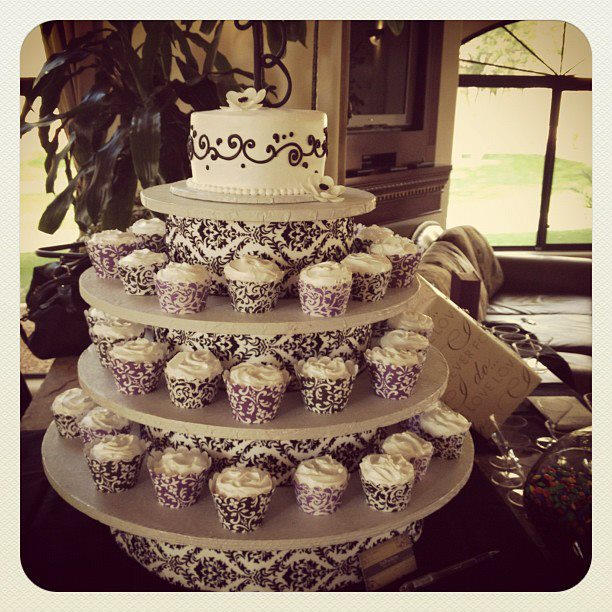 bridal shower cupcake cakes