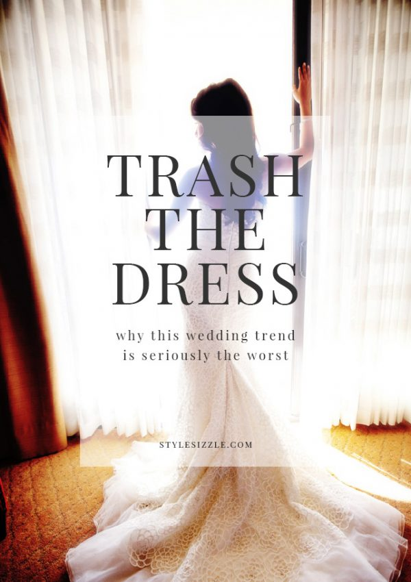 trash the dress wedding trend