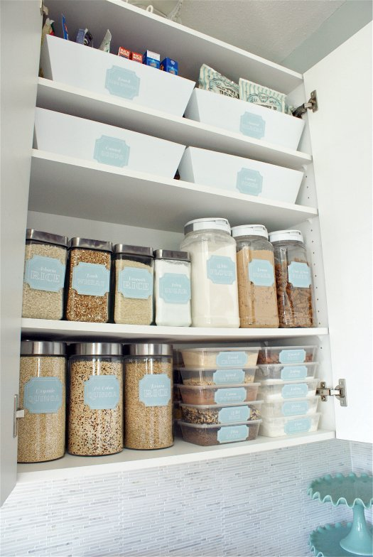 beautiful pantry organization