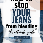 how to keep your jeans from bleeding