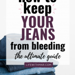 how to stop your jeans from bleeding