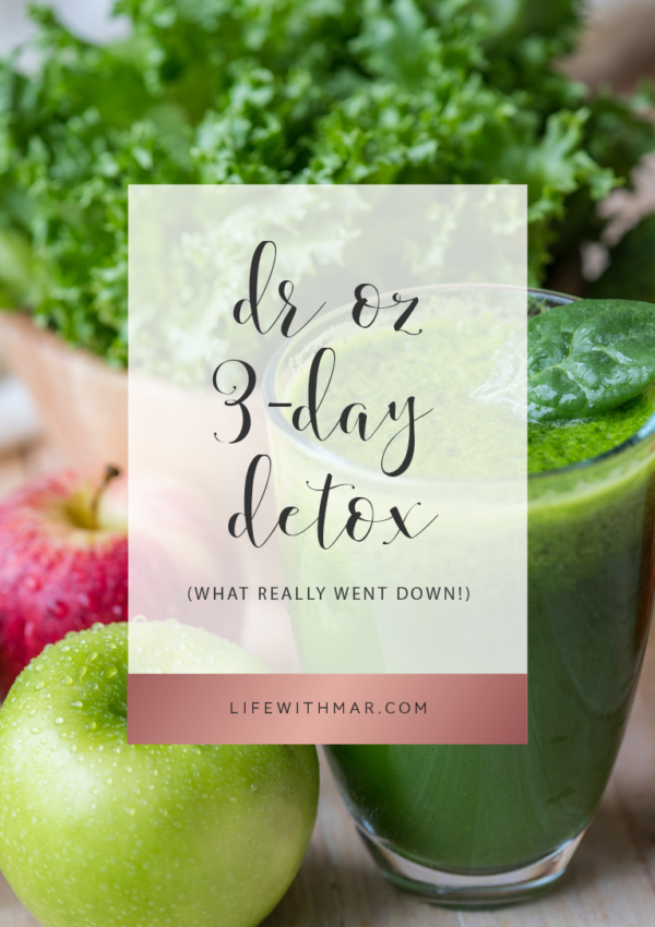 dr. oz 3 day detox what really happens