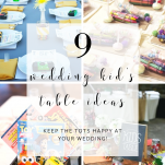 9 wedding kids table ideas