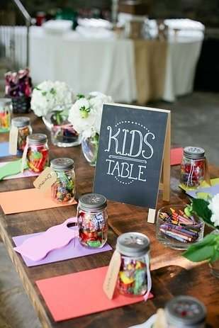 wedding kids table ideas coloring stations and activity books