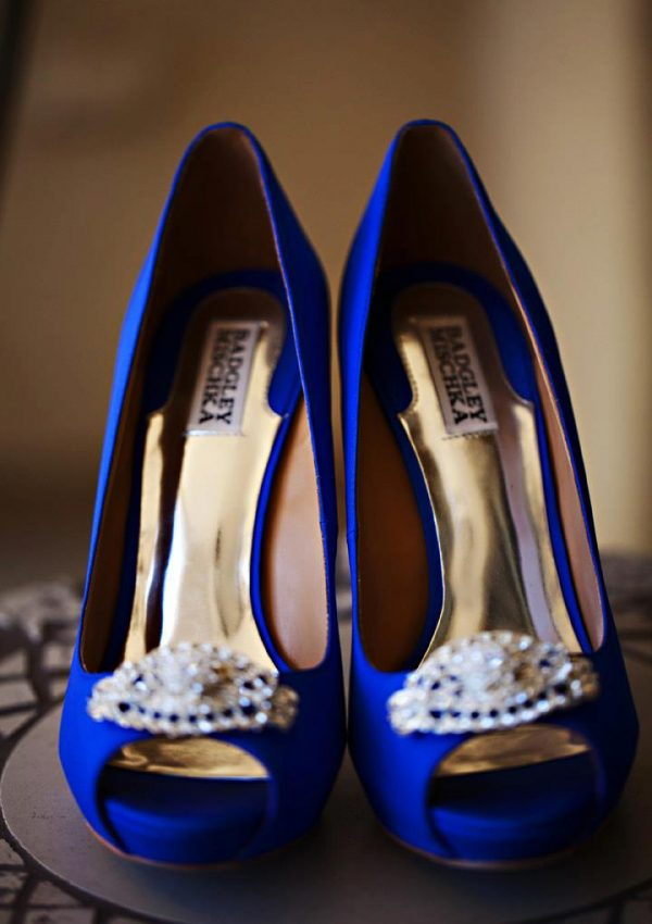 blue wedding shoes badgley mischka