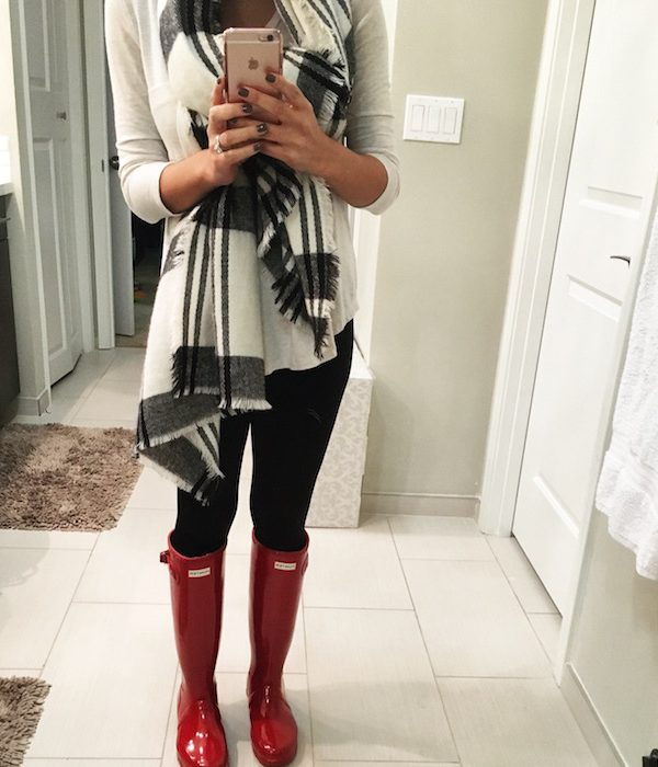 mossimo blanket scarf hudson boots
