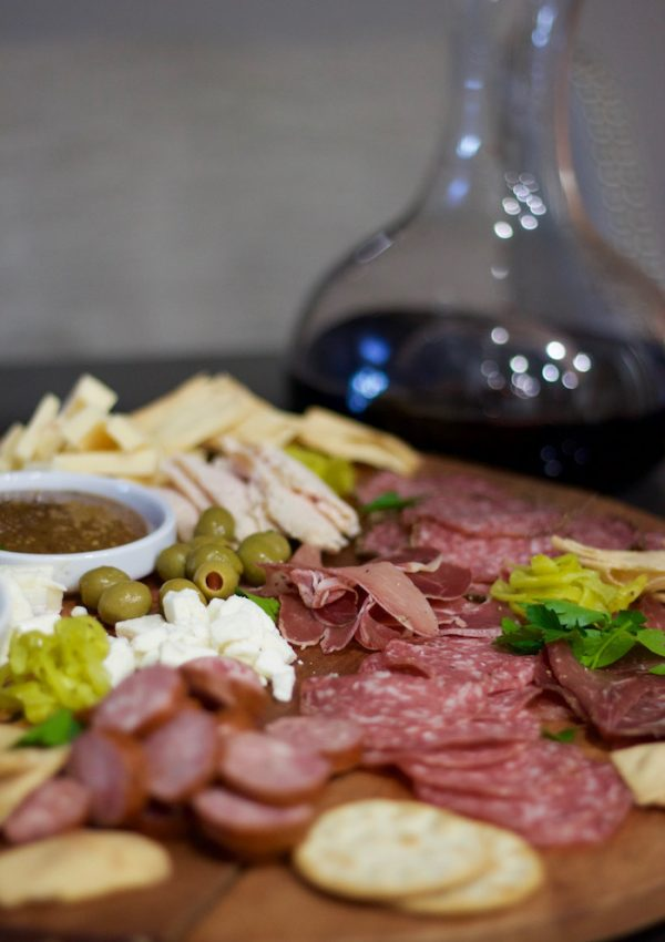 charcuterie board, easy holiday entertaining idea. Click to see even more holiday entertaining tips and tricks for last minute party guests