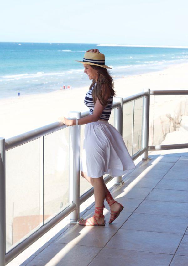 asos white skater skirt