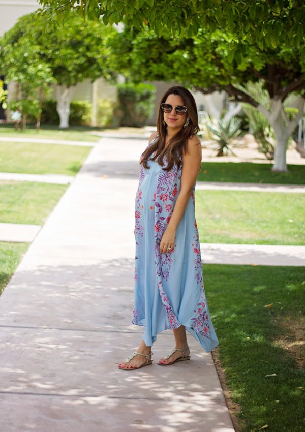 Blue print maxi dress, see how I styled this Free People maxi dress from Trunk Club!
