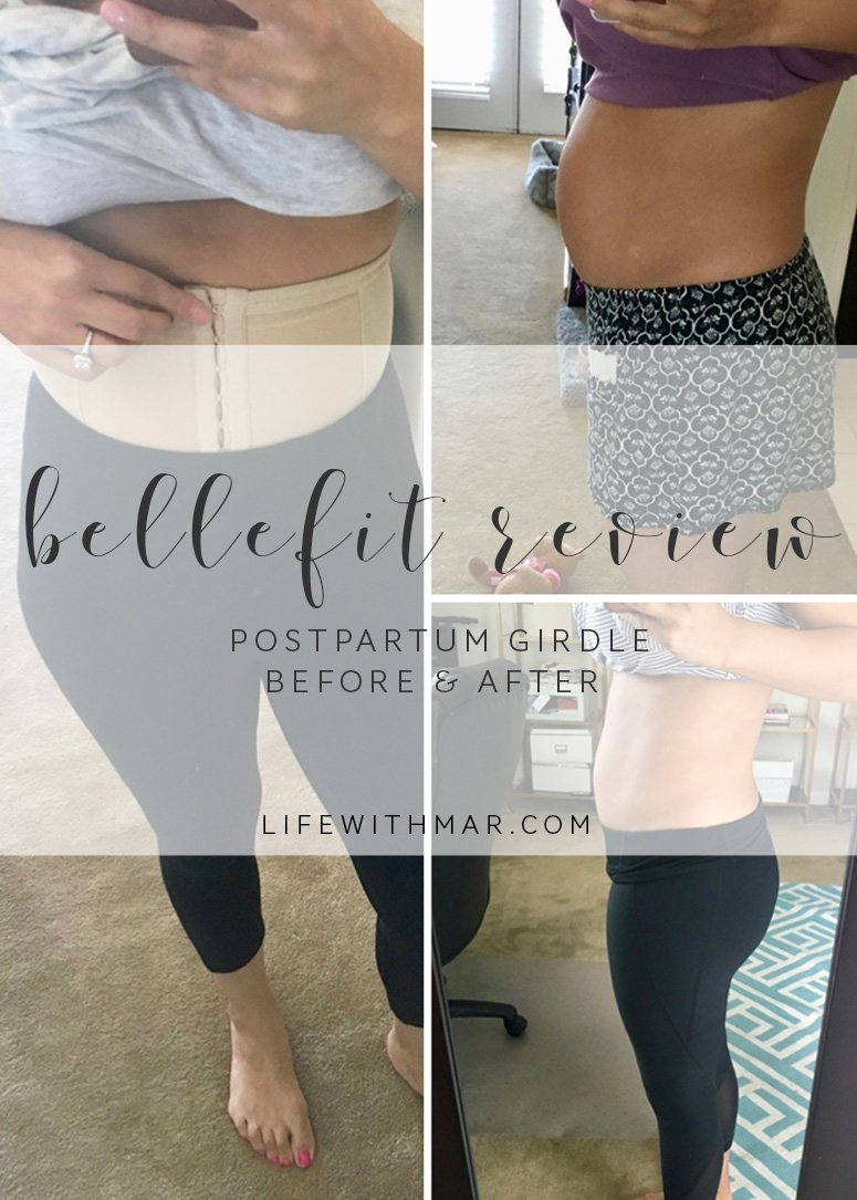 Bellefit postpartum girdle review and before and after shots. Click to see my results and what I liked and didn't like about it!