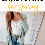 how to style cardigans for spring