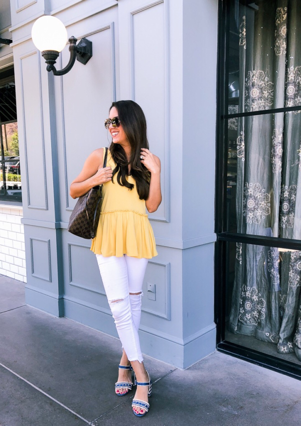 how to beat burnout Chelsea 28 v neck peplum tank