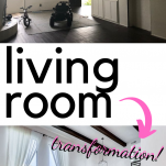 before and after living room renovation