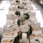 Our 2018 Slava: An Elegant Black, White and Gold Table Setting