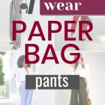 paper bag waist pants outfit