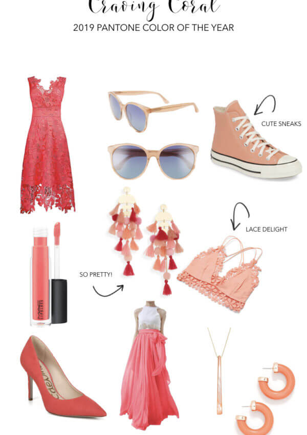 how to wear living coral, pantone's 2019 color of the year