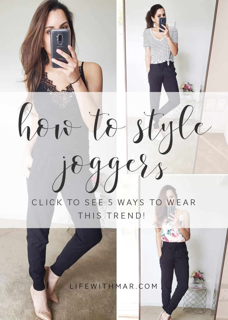 5 ways to style jogger pants