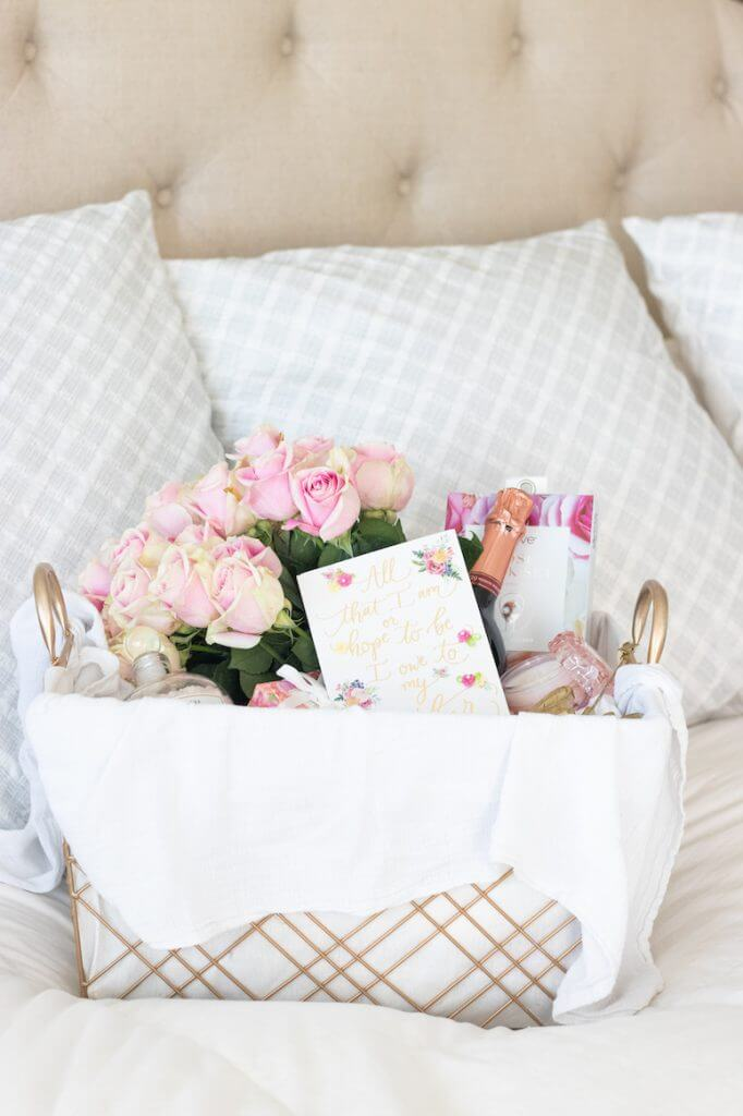 how to curate a luxury mothers day gift basket