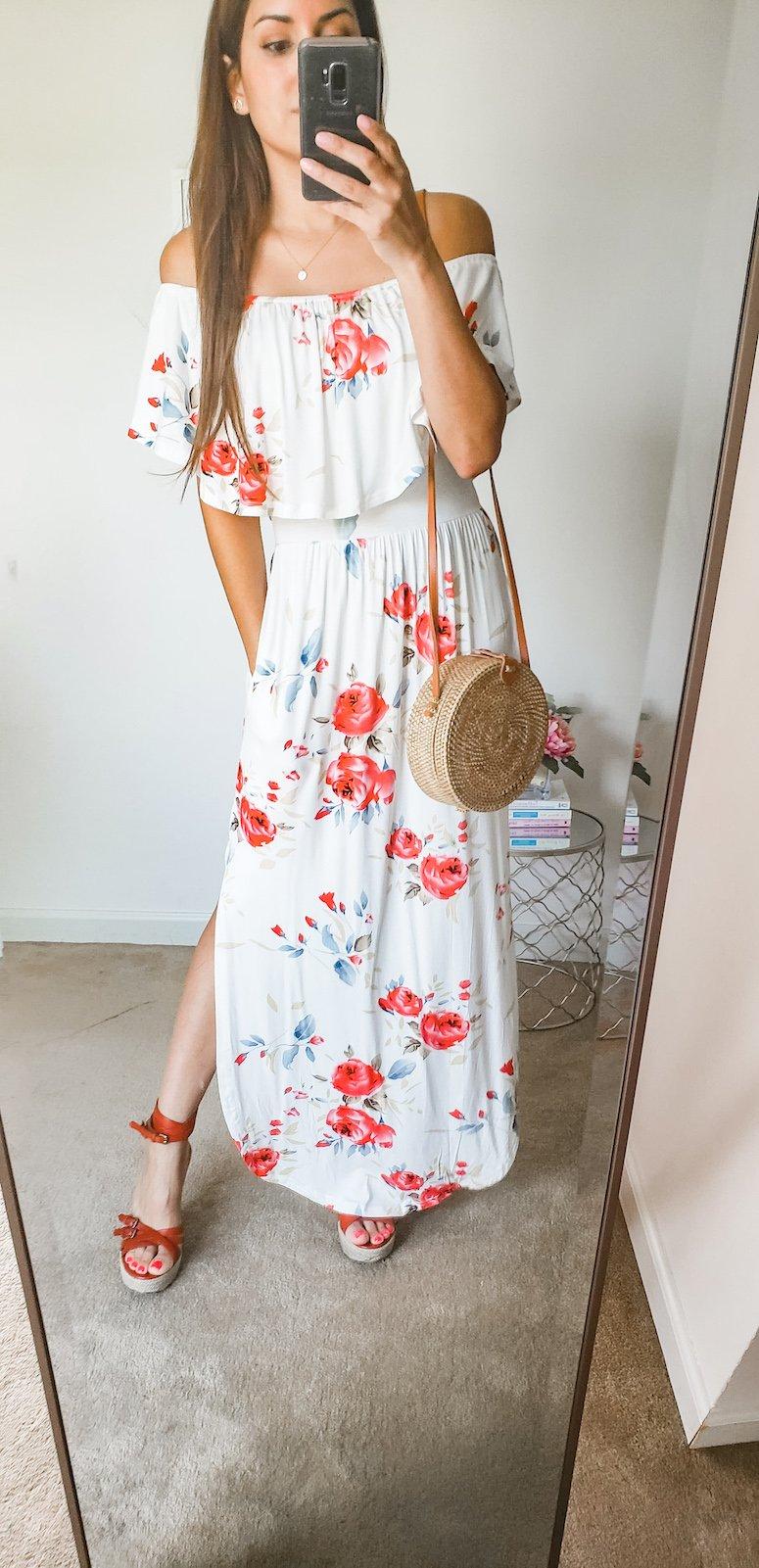 amazon floral print maxi dress summer dress
