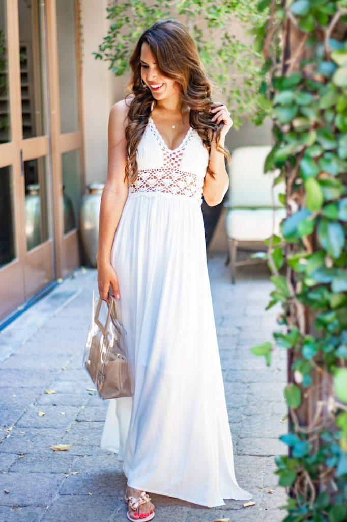 summer amazon fashion haul white crochet dress