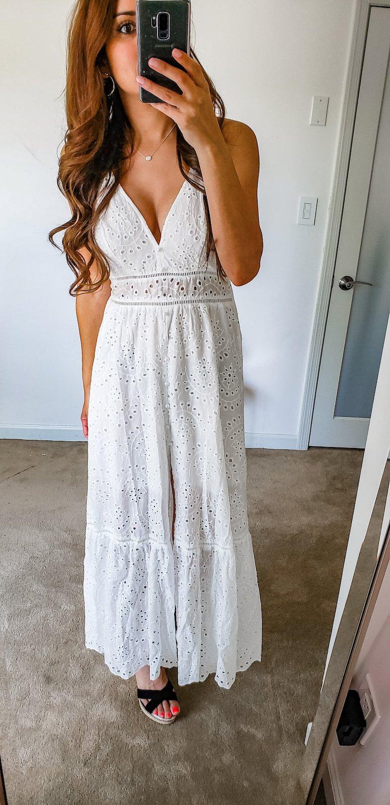 amazon summer finds white maxi dress