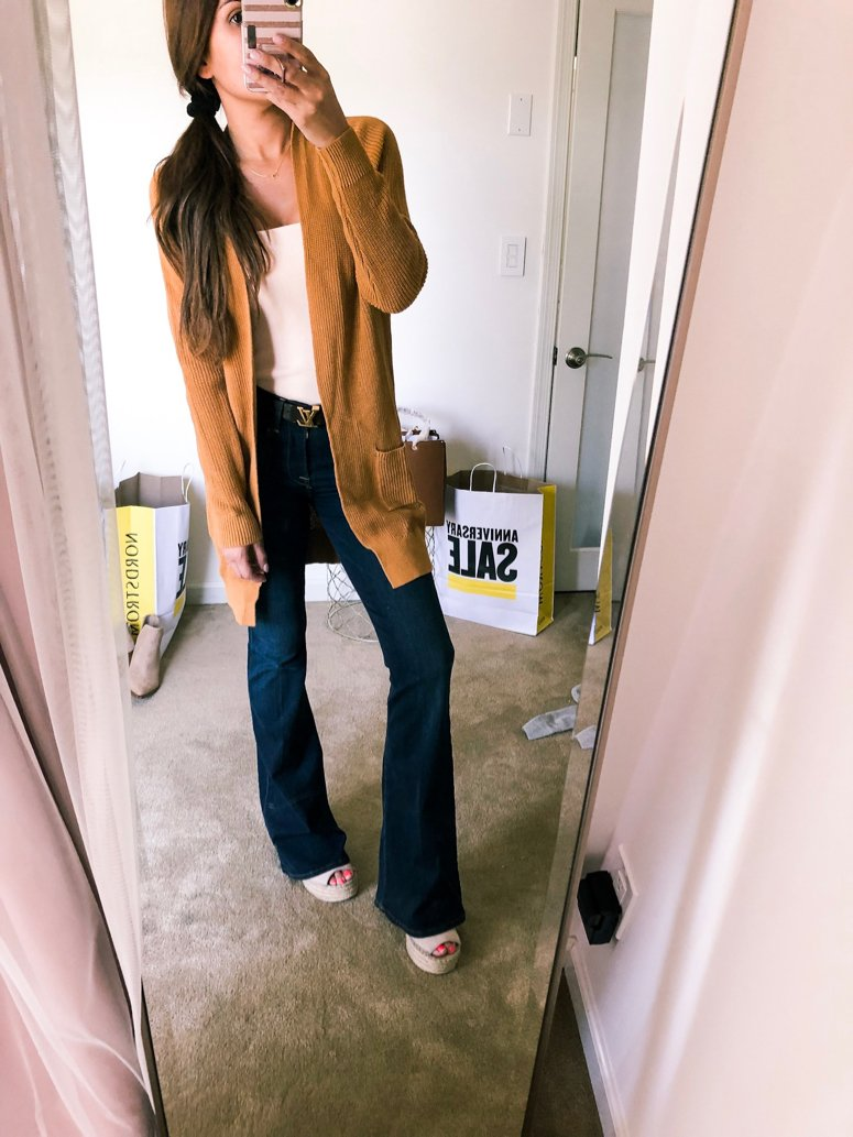bp longline cardigan and jeans outfit idea