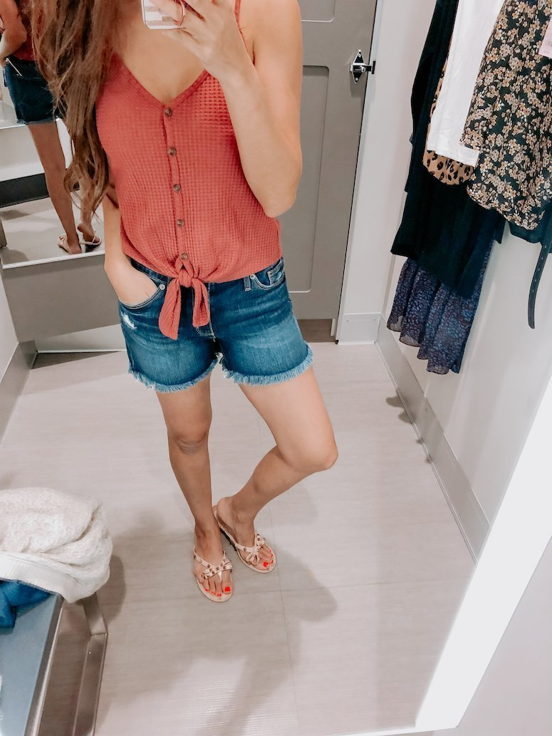 target shorts and tank top outfit