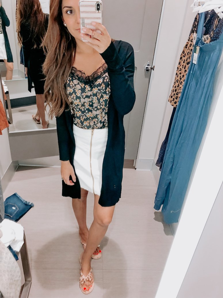 lace cami and skirt target try on haul