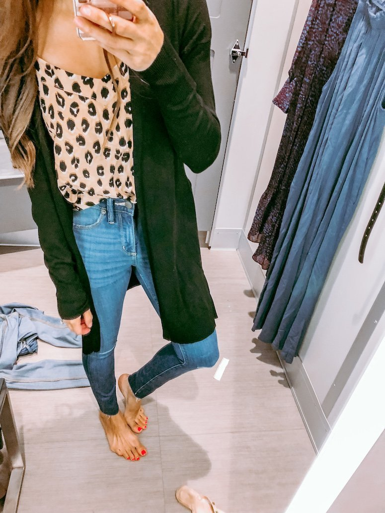 leopard print cami and jeans target
