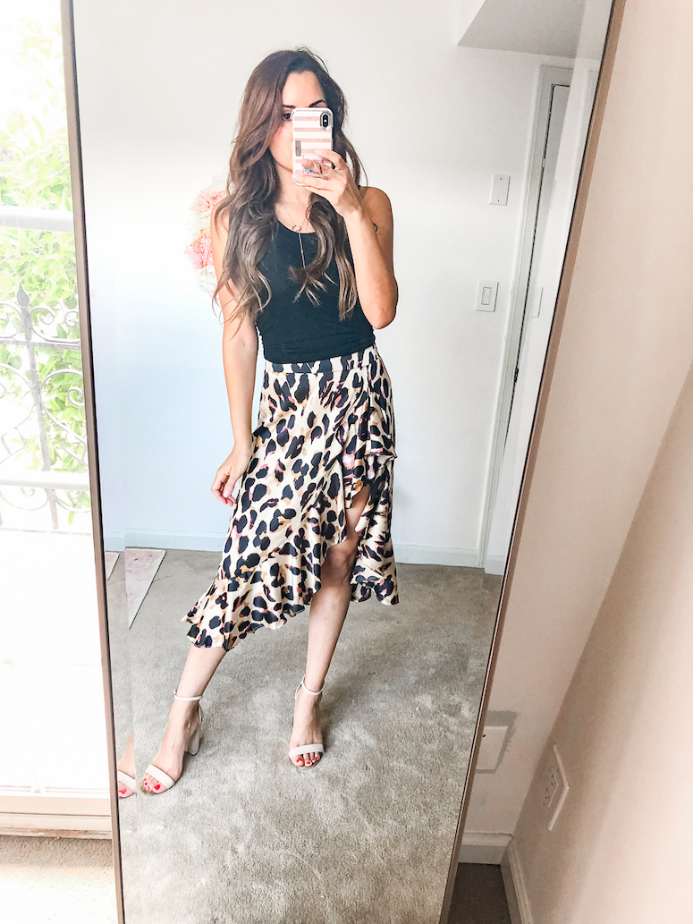 amazon leopard print skirt