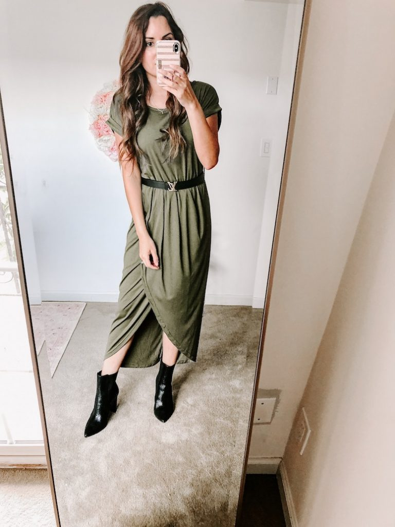 amazon short sleeve maxi dress