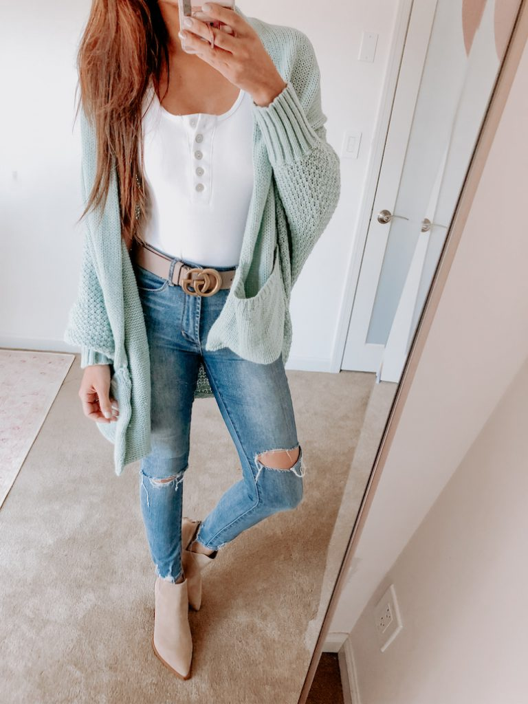 chicwish blue knit sweater