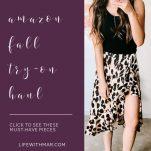 amazon leopard print skirt fall fashion