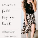 leopard print skirt amazon fashion find