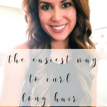 easy way to curl long hair