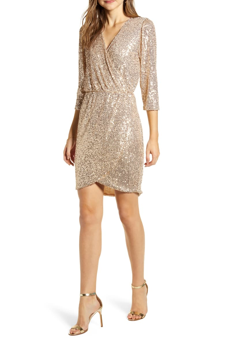 what to wear to a new year's eve wedding: sequin party dress