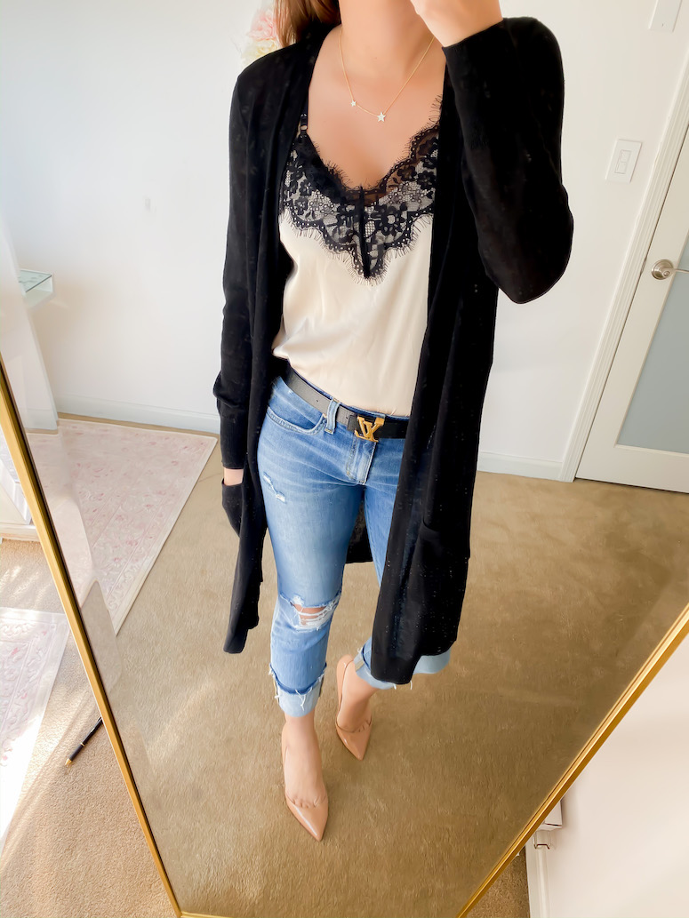 The drop lace cami