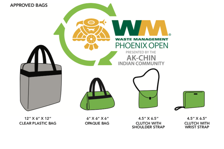 what to wear to the 2020 waste management phoenix open bag rules
