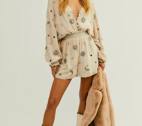 free people under the stars romper with boots
