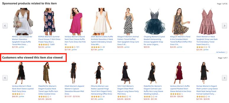 amazon customers also viewed tab amazon shopping tips