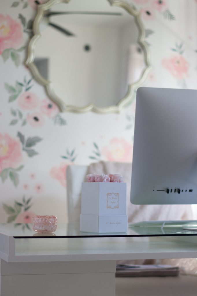 floral wallpaper home office decor and work from home tips