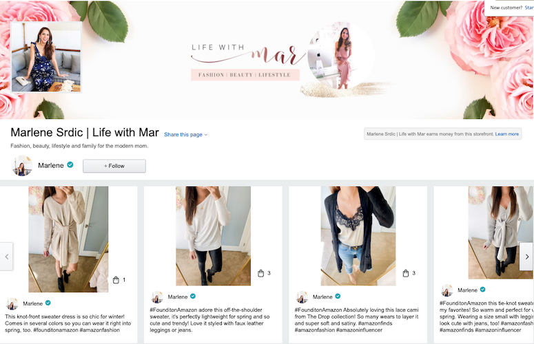 how to find cute clothes on amazon: amazon influencer storefront