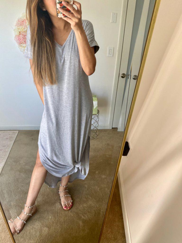 amazon grey t-shirt dress