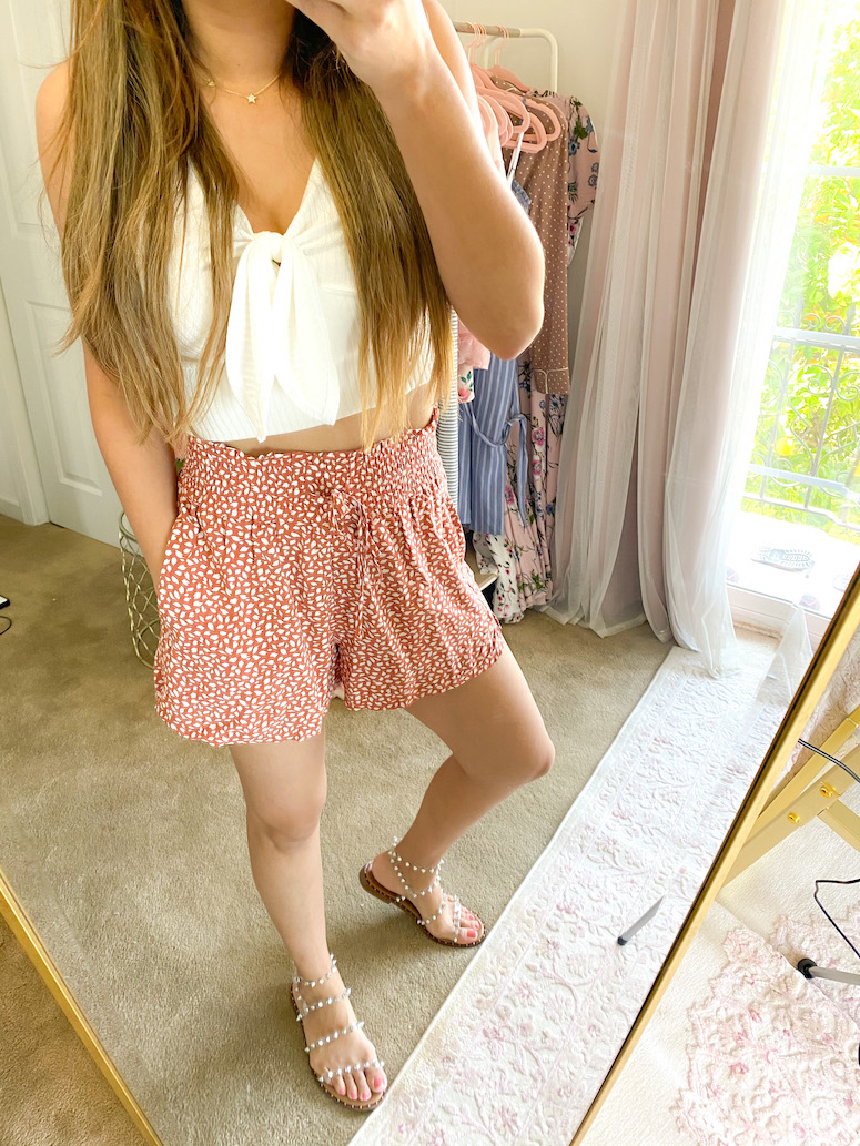 drapey pull on shorts