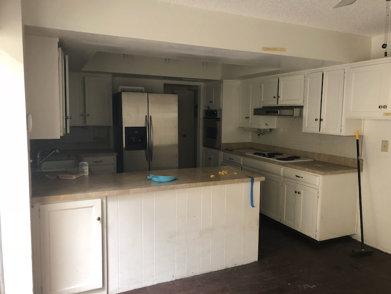 kitchen renovation before transformation