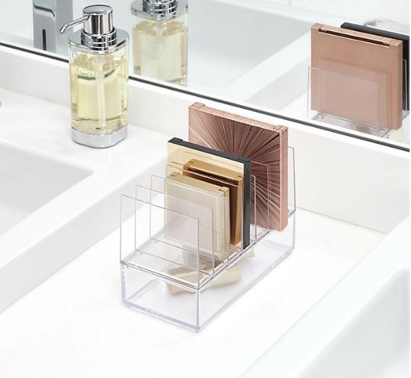 clear acrylic makeup palette organizer