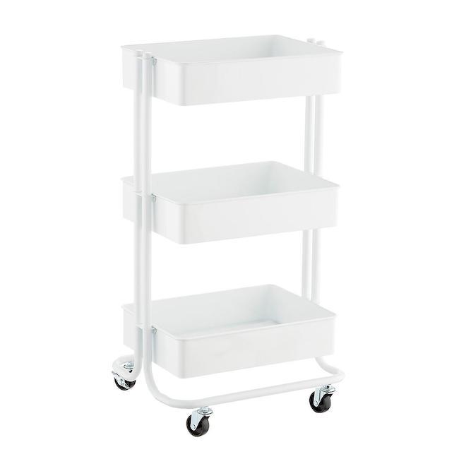 white craft cart