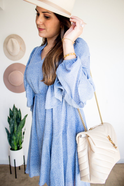 amazon ruffle sleeve dress